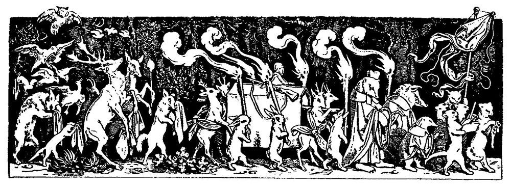 Schwind-Begrafenis van de jager