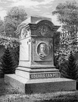 Graf van Edgar Allan Poe in 1875