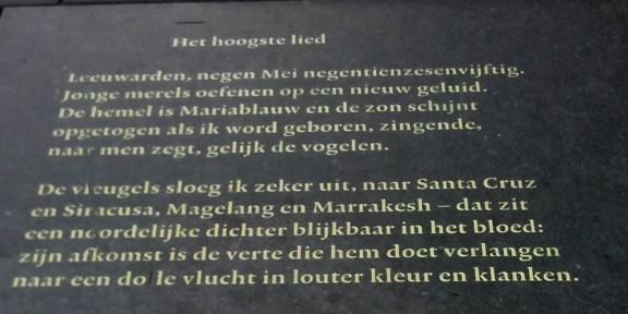 Poëzie, Pieter Boskma, Leeuwarden