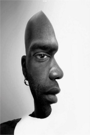 foto zwarte man profiel