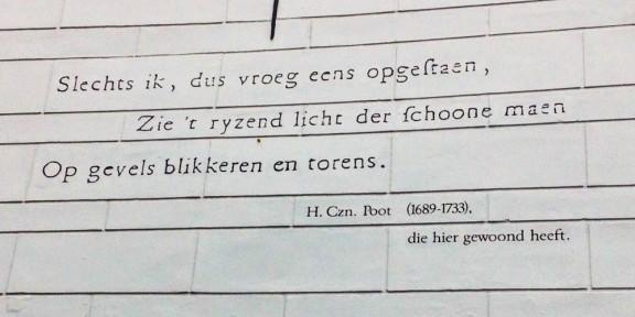 Poëzie, Hubertus Corneliszn. Poot