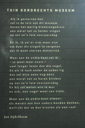 Poezie, gedicht, Tuin Dordrechts Museum, Jan Eijkelboom, Dordrecht