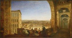 Turner schilderij over Rafael schilderend in het Vaticaan