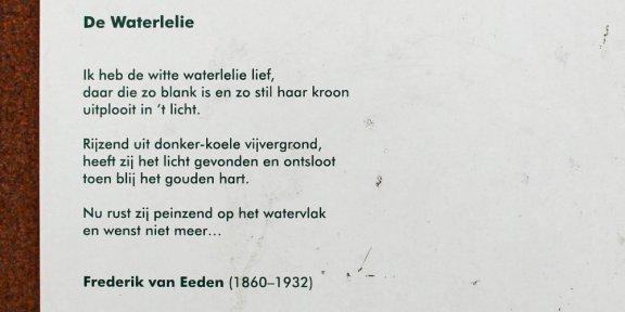 Frederik van Eeden, Hengelo, Waterlelie, poëzie, gedicht