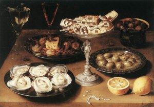 Osias Beert, Stilleven met oesters, 1610