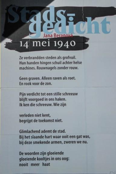 14 mei 1940, stadsgedicht, Jana Beranová, Rotterdam