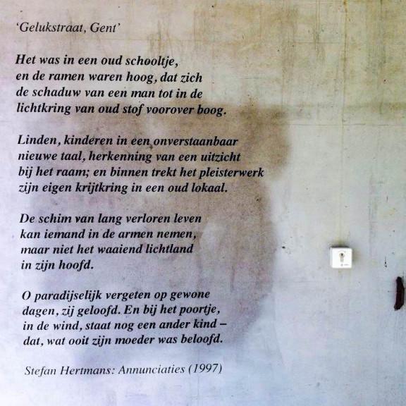 Stefan Hertmans, 'Gelukstraat, Gent', Sint Pietersnieuwstraat, Gent