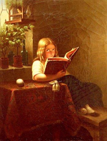 boek, lezen, schilderij, Johann Georg Meyer von Bremen