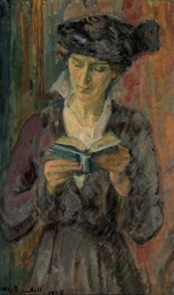boek, lezen, schilderij, Magnus Enckell