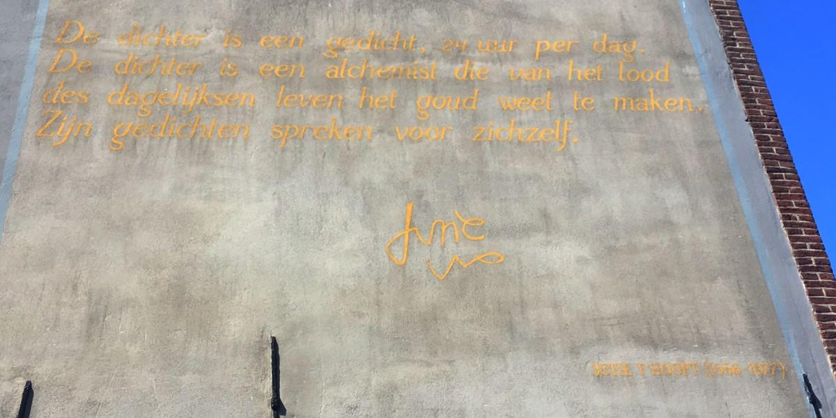 Poëzie, gedicht, Leiden, Jotie 't Hooft
