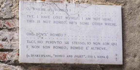 Poëzie, William Shakespeare, Verona, Romeo and Juliet