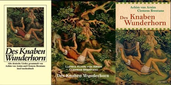 Des Knaben Wunderhorn, boekcovers
