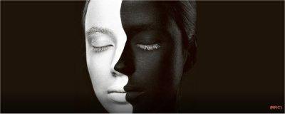 Zwartwit-afbeelding gezicht