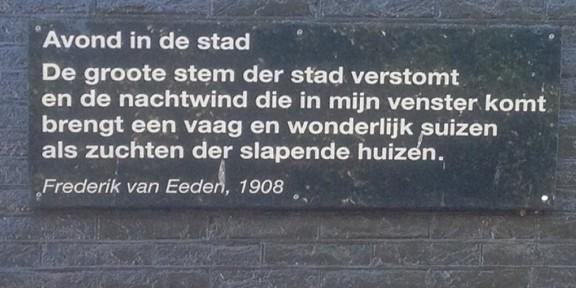 Poëzie, gedicht, Frederik van Eeden, Amsterdam