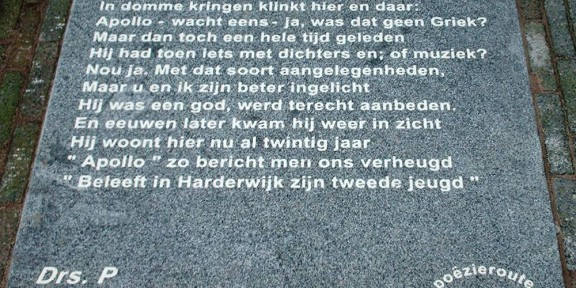Poëzie, gedicht, Drs. P, Harderwijk, Apollo