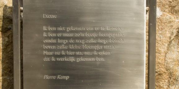 Poëzie, gedicht, Excuse, Pierre Kemp, Valkenburg