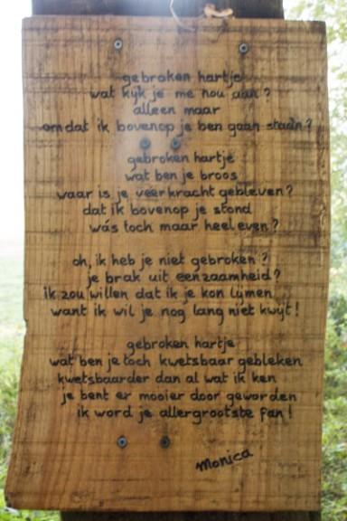Poëzie, gedicht, Monica, Krijtlandpad, Zuid-Limburg