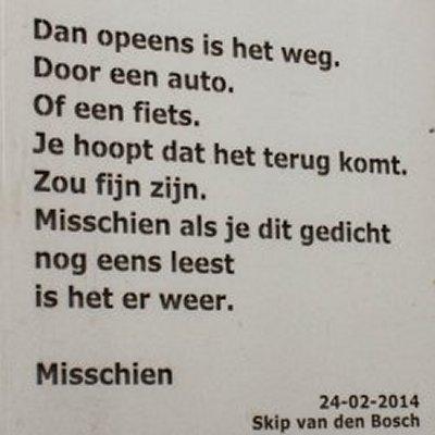 Poëzie, gedicht, Skip van den Bosch, Utrecht