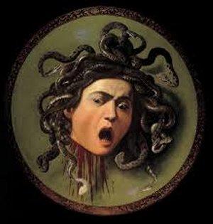 Caravaggio, Medusa, Uffizi, Florence