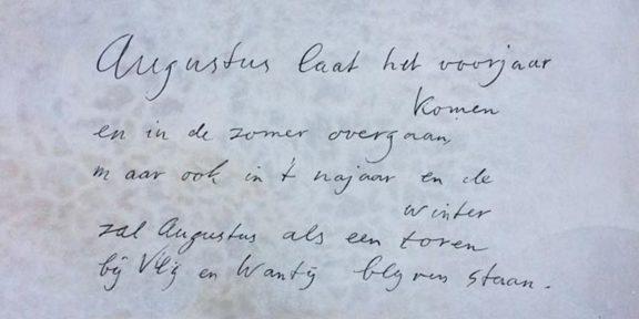 Poëzie, gedicht, Villa Augustus, Dordrecht