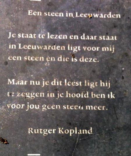 Poëzie, gedicht, Leeuwarden, Rutger Kopland