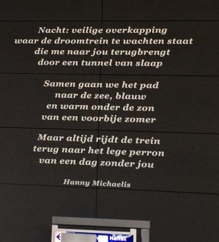 Poëzie, gedicht, Hanny Michaelis, Centraal Station, Utrecht