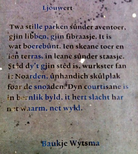 Poëzie, gedicht, Baukje Wytsma, Leeuwarden