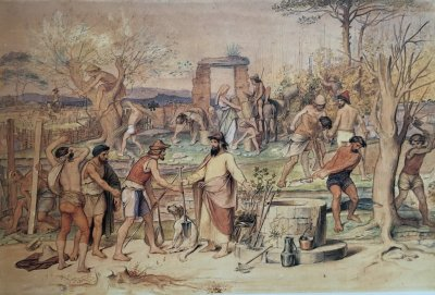 Moritz von Schwind, Die Arbeiter im Weinberg, Rome