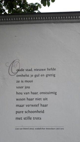 Gedicht van Cees van Weerd, gevonden in Amersfoort