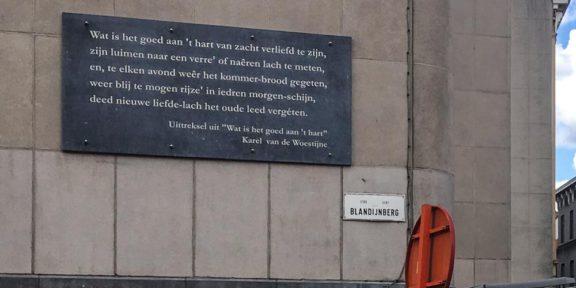 Poëzie, gedicht, Karel van den Woestijne, Gent