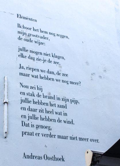 Poëzie, gedicht, Middelburg, Andreas Oosthoek