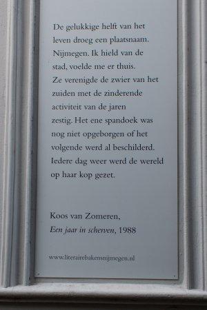 Poëzie, prozagedicht, Koos van Zomeren, Nijmegen