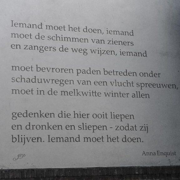 Poëzie, gedicht, Anna Enquist, Naarden