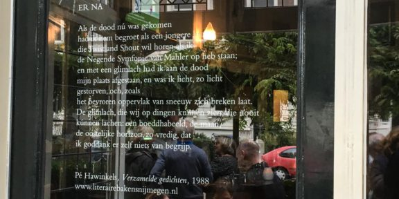 Poëzie, gedicht, Nijmegen, Pé hawinkels