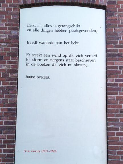 Poëzie, gedicht, Hans Faverey, Lochem