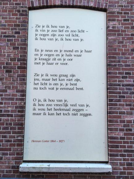 Poëzie, gedicht, Herman Gorter, Lochem
