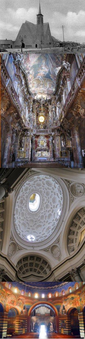 Westerkerk, St-Johann-Nepomuk-Kirche, San Carlo alle Quatro Fontane, Cenakelkerk