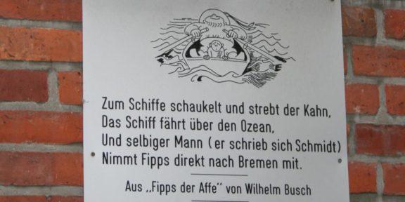 Poëzie, dichtregels, Wilhelm Busch, Bremen