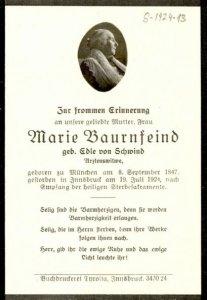 Marie Bauernfeind, geboren von Schwind