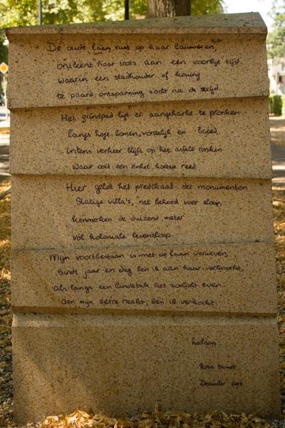 Poëzie, gedicht, Apeldoorn, Rosa Bromet