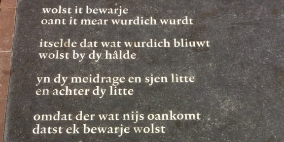 Poëzie, gedicht, Tsead Bruinja, Leeuwarden