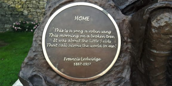 Poëzie, dichtregels, Frncis Ledwidge, Slane, war poet