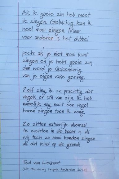 Poëzie, gedicht, Ted van Lieshout, Nunspeet,