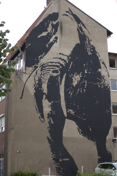 The Elephant, Lüneburg, Victor Ash, Street art