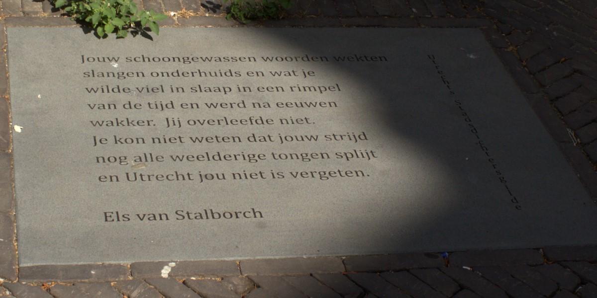 Poëzie, gedicht, Els van Stalborch, Utrecht