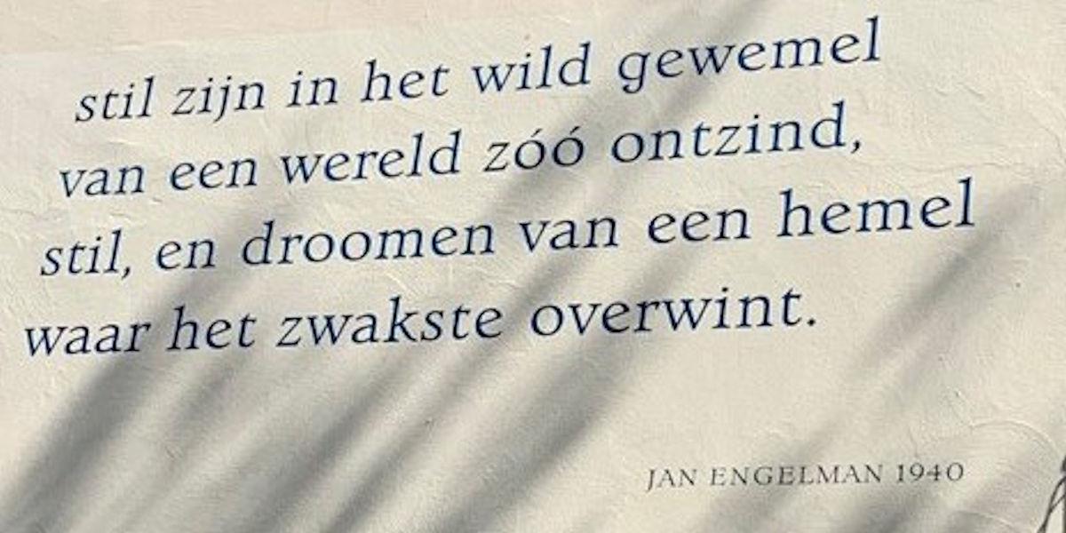 Poëzie, gedicht, Jan Engelman, Utrecht