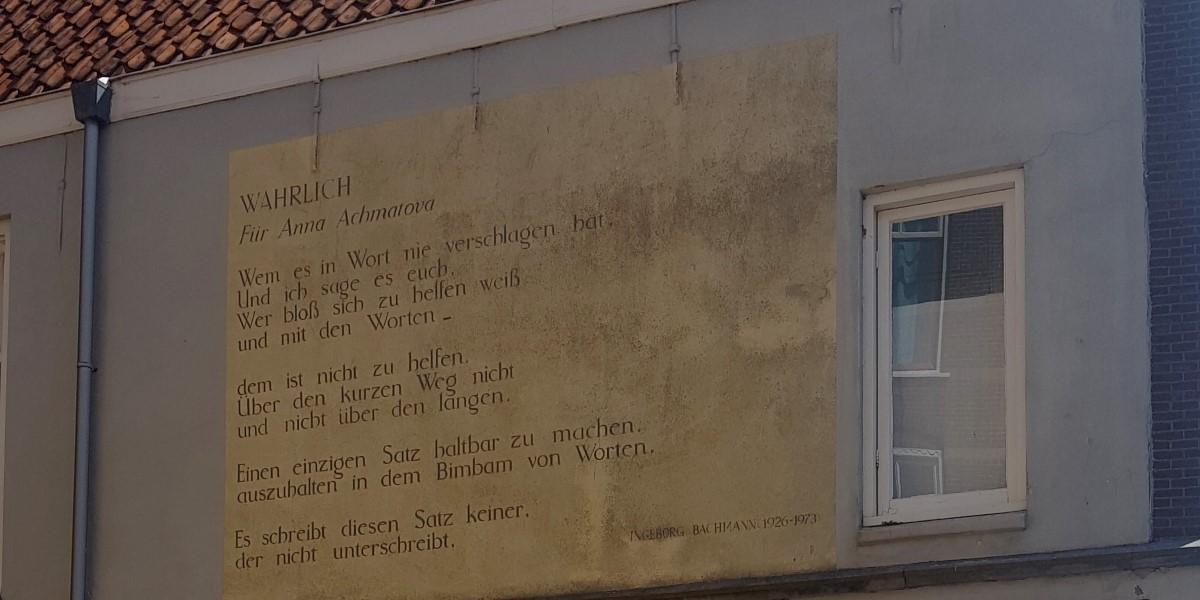 Poëzie, gedicht, Ingeborg Bachmann, Leiden