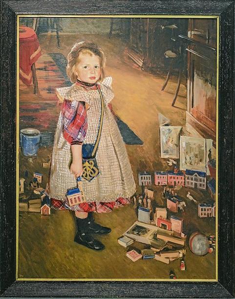 Kind im Spielzimmer, Heinrich Eduard Linde-Walther, Lübeck