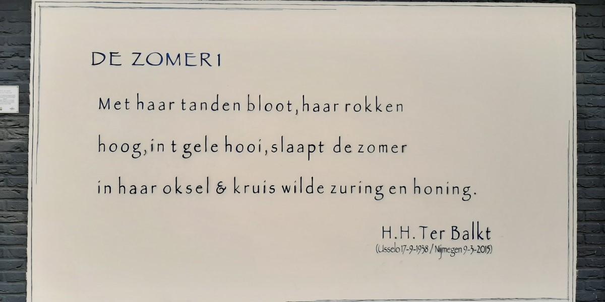 Poëzie, gedicht, H.H. ter Balkt, Hengelo