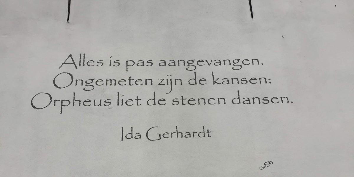 Poëzie, gedicht, Ida Gerhardt, Naarden